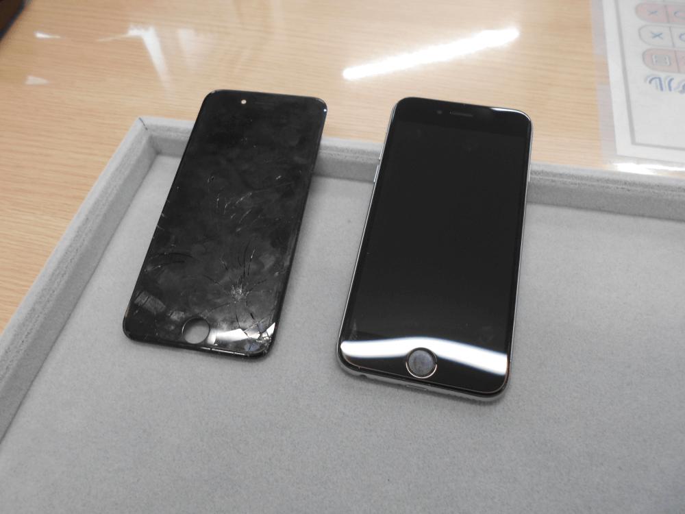 どこよりも安く!iPhone6ガラス交換修理を行いました!(^_^)v
