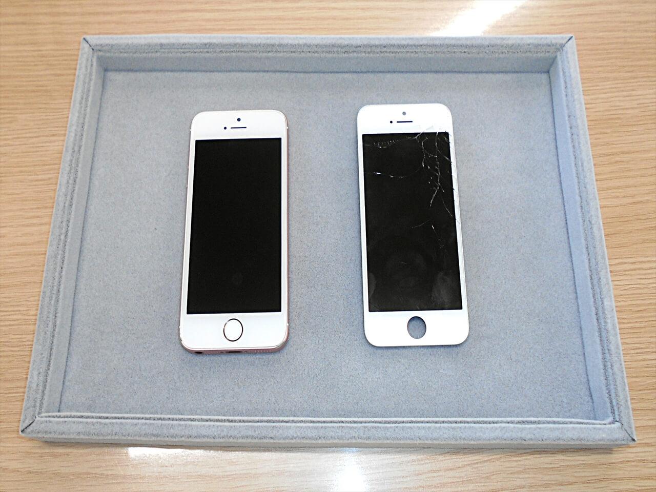 iPhone(アイフォン)SEガラス交換修理を行いました(*^_^*)