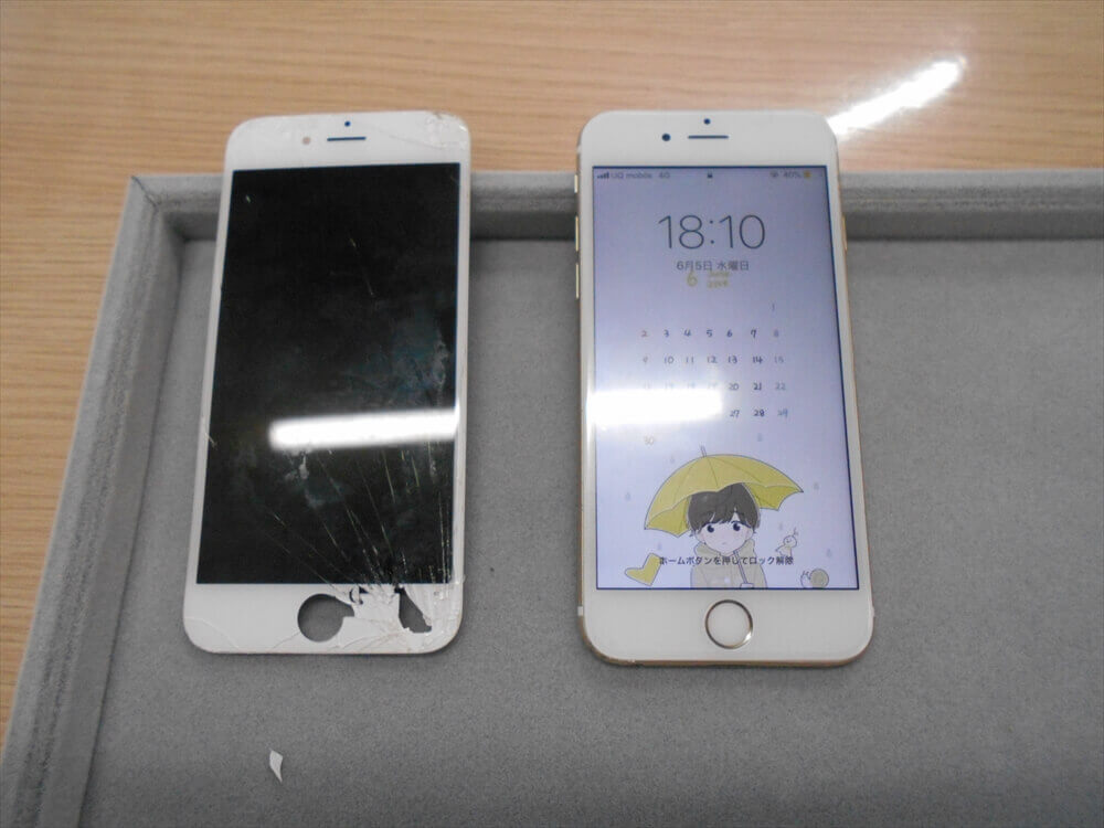 iPhone6Sガラス交換修理を行いました!(#^.^#)