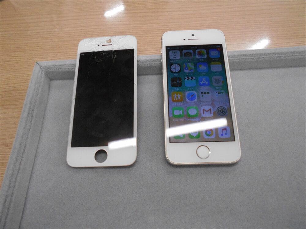 iPhoneSE液晶交換修理を行いました!(*゚▽゚*)