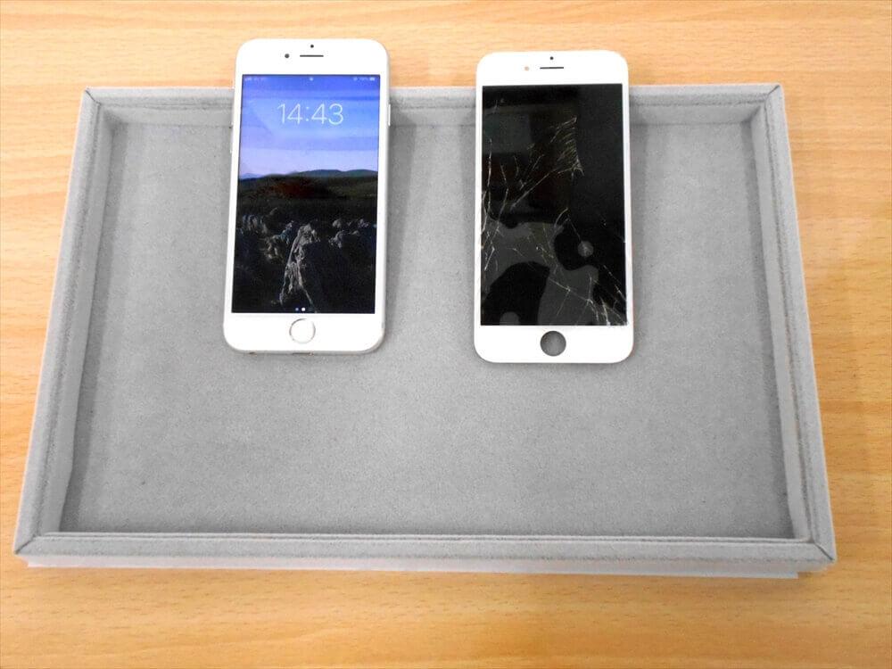iPhone(アイフォン)修理 倉敷 6Sガラス交換修理 安いところを探されて、当店をお選び頂いたそうです(^.^)