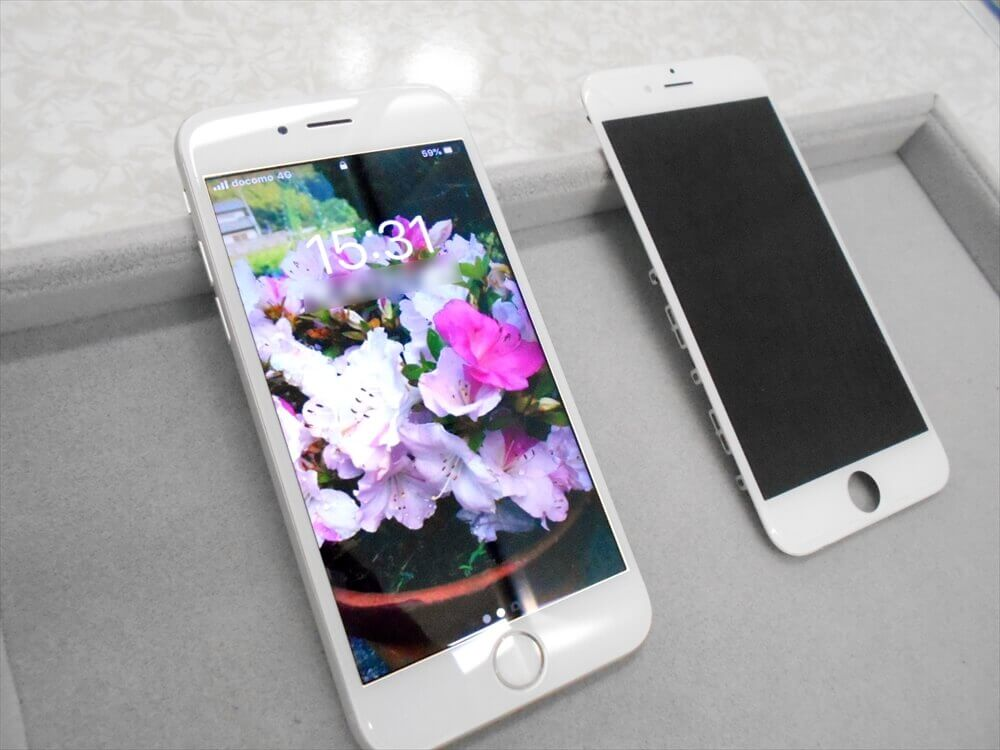 iPhone6Sガラス交換修理 駐車料金割引券サービス中です!