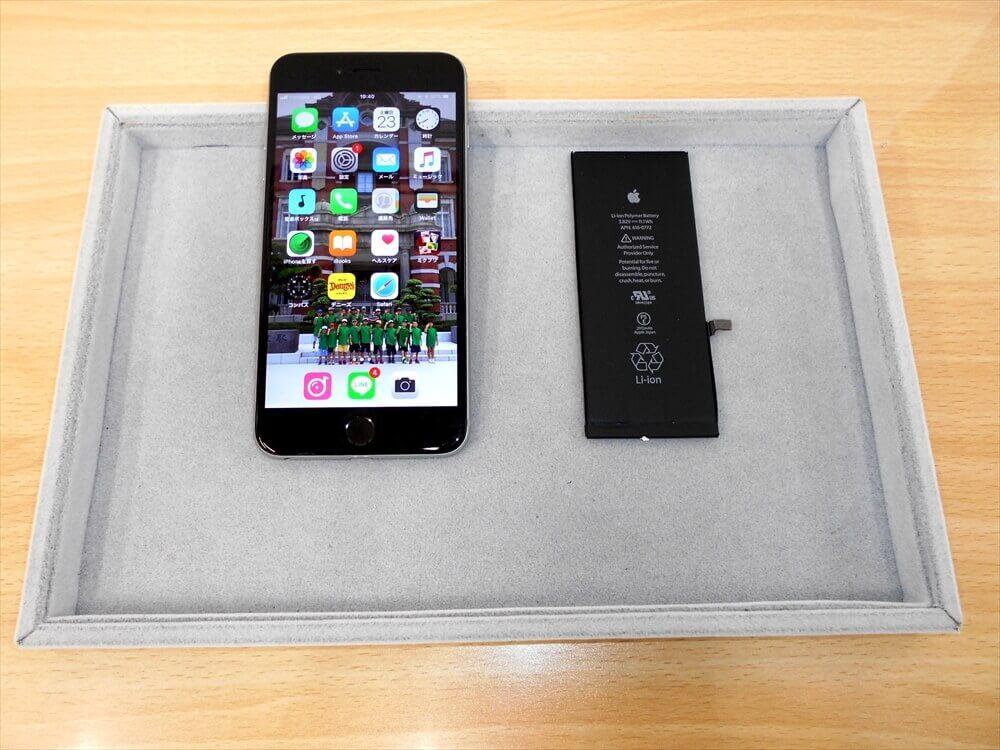予備機のiPhone6Plusバッテリー交換