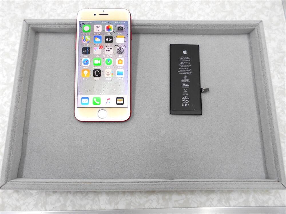 iPhone7 お知り合いのご紹介で初めてバッテリー交換をされました!