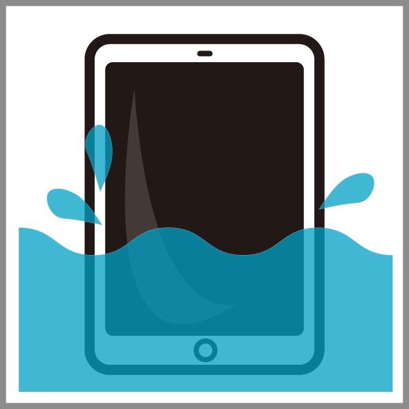 iPad水没復旧修理 倉敷